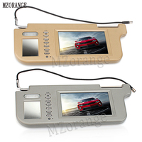 Newest 7 left or right Car sun visor monitor sun shading boards display screen two way video input reversing switch priority