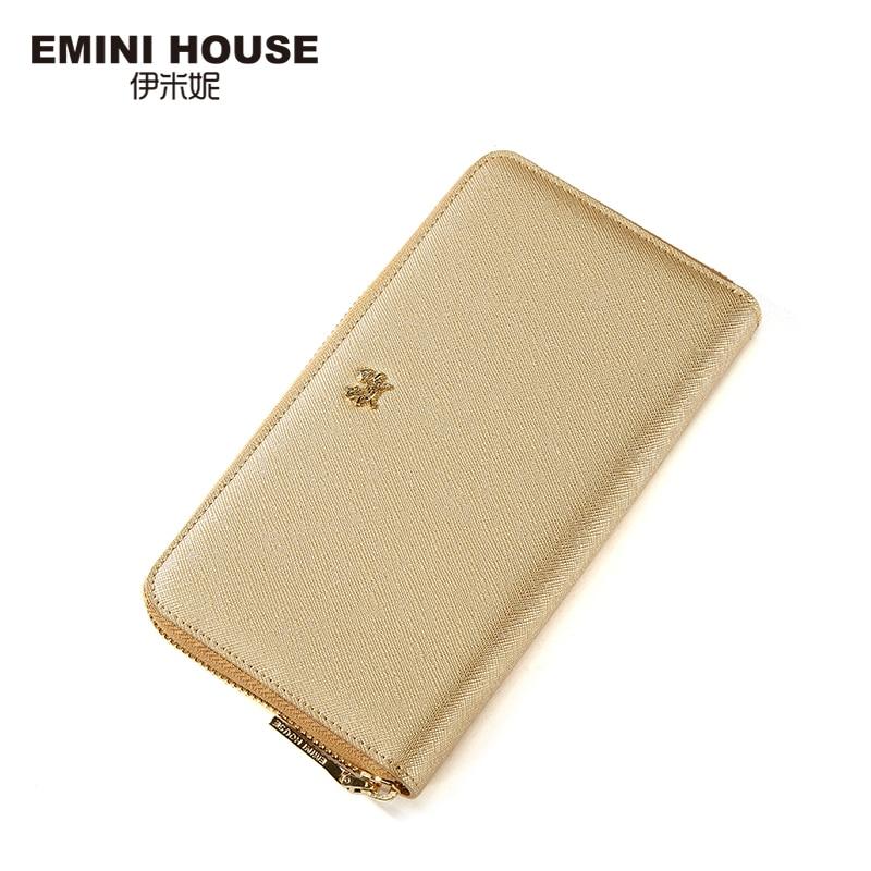 EMINI HOUSE Elegant Split Leather Long font b Wallet b font Fashion Multifunction font b Women