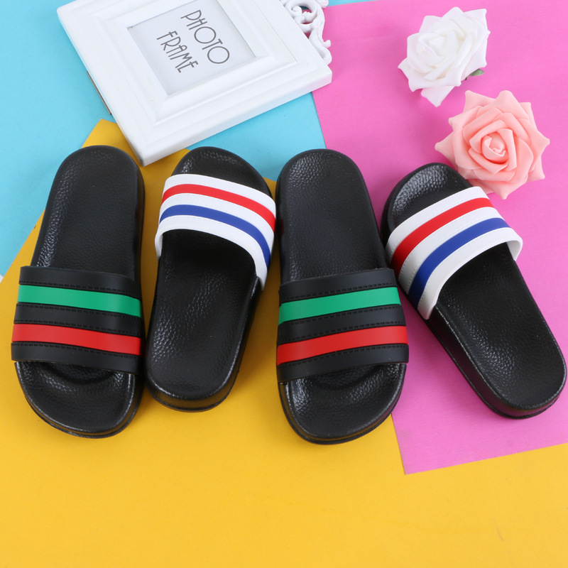 Boys Girls Summer Casual Sandals Soft Sole Fashion color striped Kids Slippers Barefoot Water Shoes For Children Bath Beach ShoeBoys Girls Summer Casual Sandals Soft Sole Fashion color striped Kids Slippers Barefoot Water Shoes For Children Bath Beach Shoe