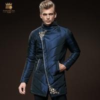 FANZHUAN Featured Brands Clothing Winter Warm Men Jackets Casual X Long Coats Jackets Outwear Casual Slim