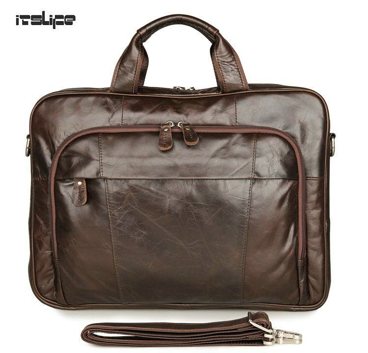 все цены на New Itslife Classic Vintage Genuine Leather Men's Handbag Tiny 15