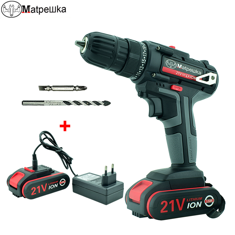 New 21V High-Quality Electric Screwdriver Household Cordless Electric Drill Handheld Rechargeable Lithium Battery Power Tools