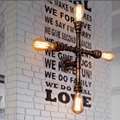 Industrial Steampunk Wall Mounted E26/E27 Light Cross Pipe Metal Retro Sconce Indoors Lighting Fixture