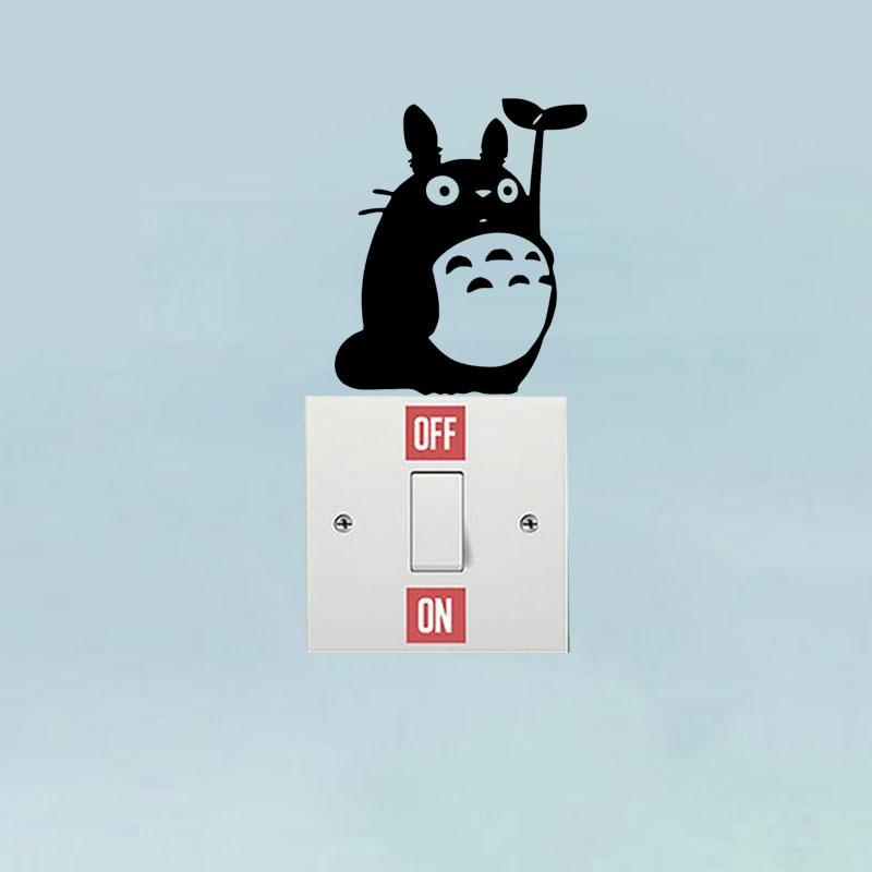Totoro Vinyl Decal Switch Sticker Decor Bedroom Kids Room ...