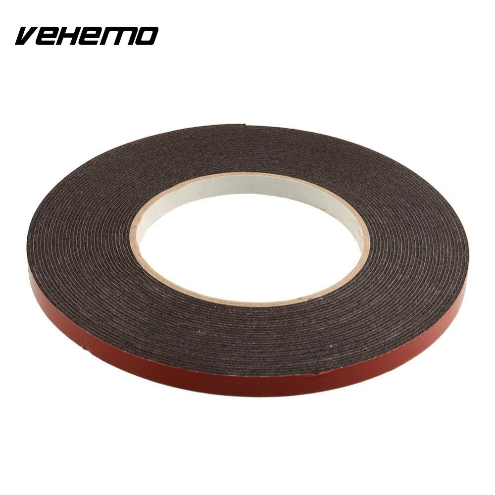 New Double Sided Car Auto Truck Vehicle Trim Moulding & Badge Number Plates Foam Sticky Tape Strong Adhesive Tape 6mmx10m Heavy miaogy 5 rolls 6mm 25m strong pet double sided adhesive tape for auto car abs plastic panel battery glass bond