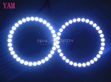 2Pcs Bright White 80mm Angel Eyes 24 SMD LED Ring Car Light