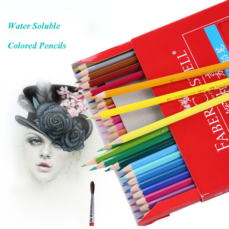 Sketch Art Supplies Faber Castell 48 Colored Pencils Lapis De Cor Professionals Artist Painting Oil Color Pencil For Drawing женское платье sexy long dresses sexy 2015 v vestido lya1333