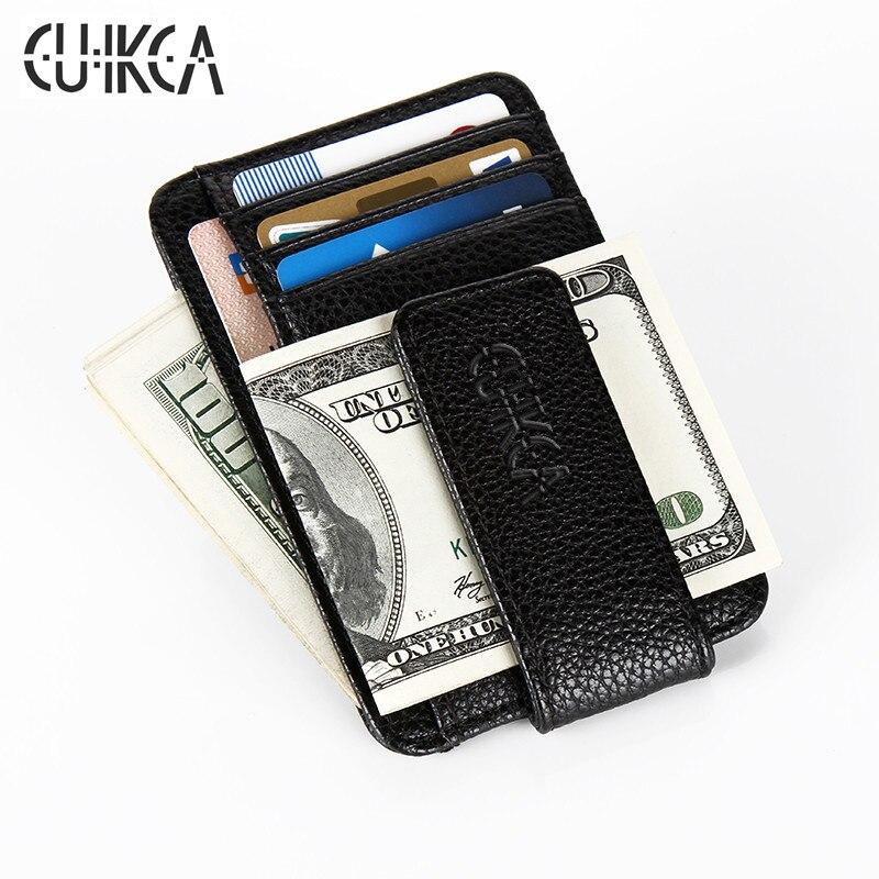 CUIKCA Nuove Donne di Modo Uomini Money Clip Wallet Clip di Magnete Ultrasottile Tasca Morsetto Della Carta di Credito Mini Creativo Portafoglio