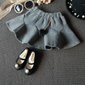 5 Pieces / lot spring autumn girls skirt high quality children clothing girls skirts gray A-line Mini children's skirts clothes