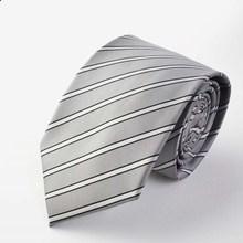 Деловые галстуки для свадебной вечеринки, галстуки в формальном стиле, галстук в полоску на шею 8 см, мужские черные галстуки Полосатый галстук, окрашенный пряжей жаккард