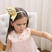 Top Fashion Cute Gold Angel wings Bows Girls Hairbands Lovely Hair Hoop Boutique Princess Headband Party Hair Accessories