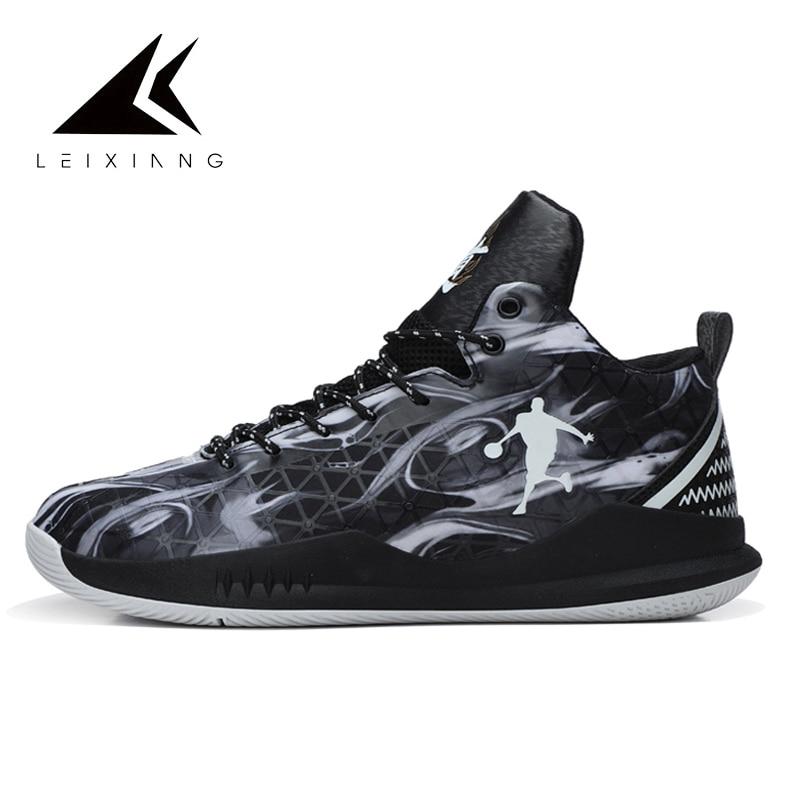 Plus Size 37-47 Man Basketball Shoes Jordan Outdoor Sneakers Lace-up Athletic Sport Basketball Basket Homme 2018 Spring Basket jordans shoes all black