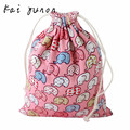 kai yunon Elephant Printing Drawstring Beam Port Storage Bag Candy Bags Gift Bag Oct 14