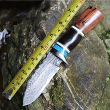 Survival manual forging Damascus knife/outdoor tools Wild dao/high hardness straight knife/list manually