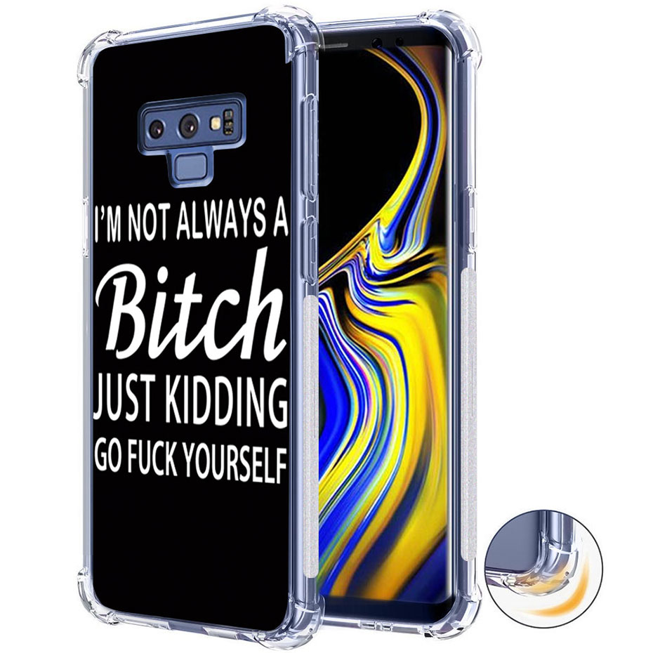 Galleria fotografica Shockproof Tpu Bumper Phone Cases For Samsung Galaxy S8 S9 Plus Case Slim Soft Silicone Cover For Coque Samsung Galaxy Note 8 9
