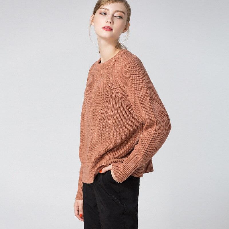 Chart Femme Épais Pull Mode Printemps Pour Blouson Chandail Plus Taille Surdimensionné Laine Grande Café See Tricoté Sexy Longue Automne 2019 aBHqc
