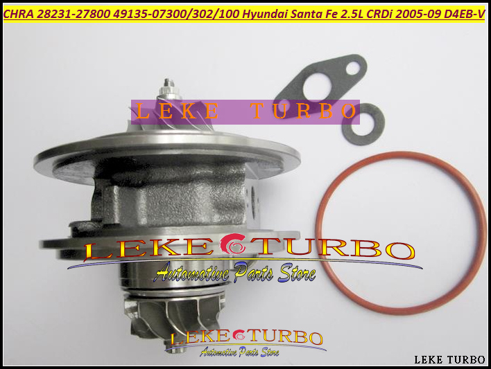 Turbo Cartridge CHRA Core TF035 28231-27800 49135-07301 49135-07302 Turbocharger For HYUNDAI Santa Fe CRDi 05- D4EB D4EB-V 2.2L bv43 5303 970 0144 53039880122 chra turbine cartridge 282004a470 original turbocharger rotor for kia sorento 2 5 crdi d4cb 170hp