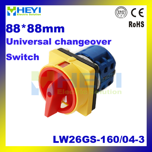 160A 440V LW26GS-160 / 04-3 Rotary universal Changeover Control switch 660v ui 10a ith 8 terminals rotary cam universal changeover combination switch