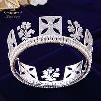 Royal Diana Princess Full Zircon Bride Tiaras Crystals Zircon Bridal Crowns Tocado Novia Headband Wedding Hair Accessories