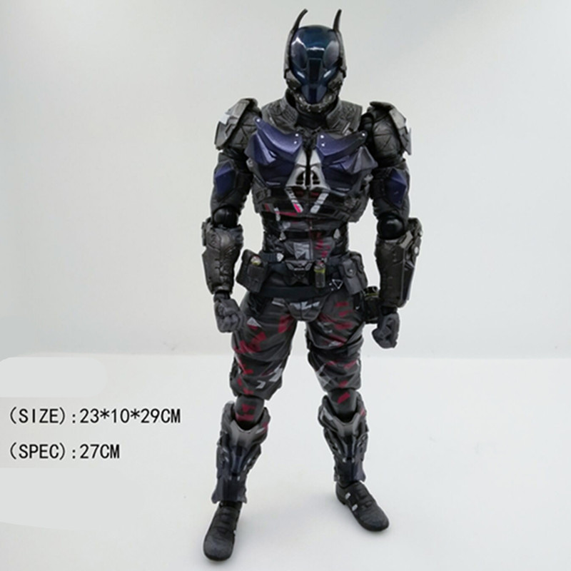 Batman Arkham Knight 1/6 Scale Painted Figure Play Arts Batman PVC Action Figure Collectible Model Toy 27cm Boxed L1077 playarts kai batman arkham knight batman blue limited ver brinquedos pvc action figure collectible model doll kids toys 28cm