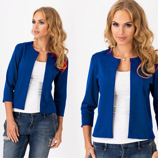 2015 hot sale mujer chaquetas moda minimalista modelos de