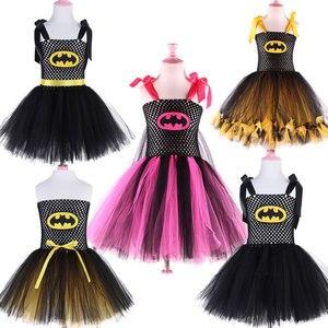 Image 1 - 2019 New Cute Super Hero Ballet Skirt Costume Hot Pink Batgirl Tutu Skirt For Girls