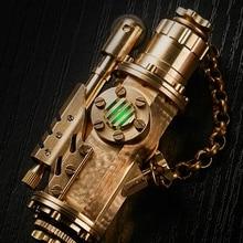 WZH часы видео 8*4,2 см ручной работы цветочный светильник Винтаж Латунь стимпанк Ретро коллекция масло прикуриватель 140 г