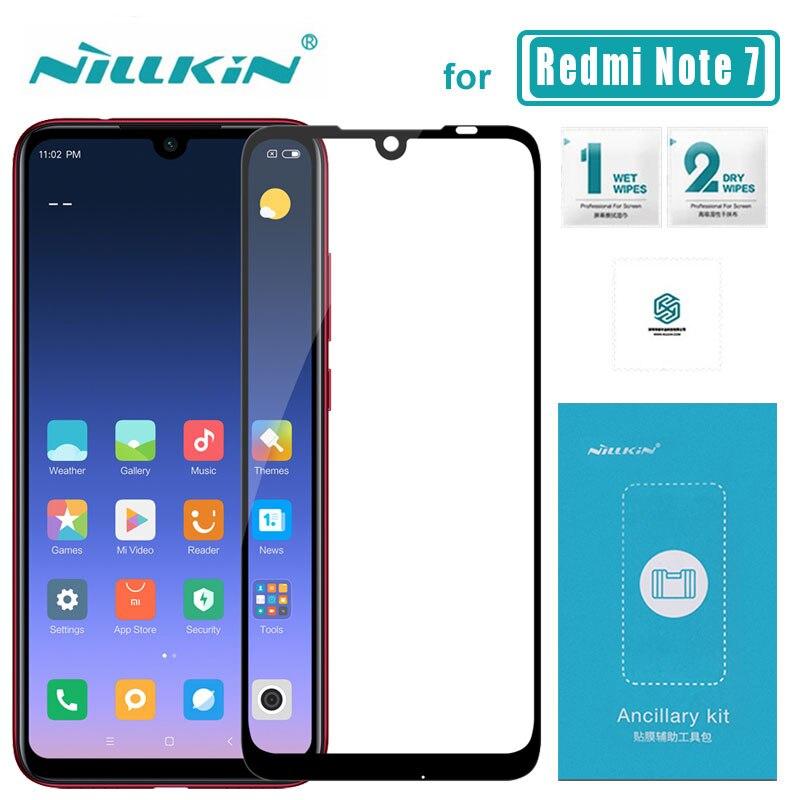 PARA Xiaomi Redmi Nota Redmi nota de Vidro Temperado Nillkin Vidro 7 7 CP + 2.5D Cobertura Completa Protetor de Tela de Proteção filme de 6.3 polegada