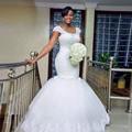 New 2017 Arrival Hand made Full Beading Africa Sexy Wrap Vestidos De Novia Lace up Tulle Wedding Brides Gown Plus size
