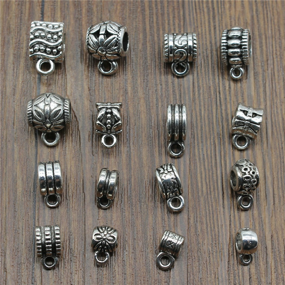 20pcs/lot Bails Beads Connector Charms Jewelry Findings Diy Bails Beads Charms Connector Wholesale Antique Silver Color20pcs/lot Bails Beads Connector Charms Jewelry Findings Diy Bails Beads Charms Connector Wholesale Antique Silver Color