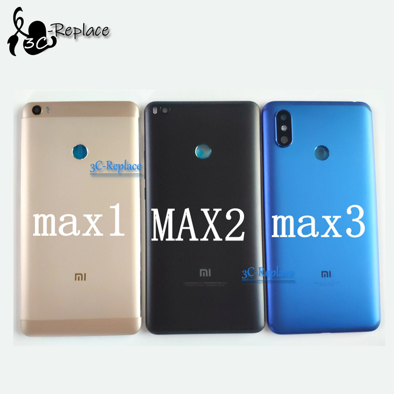 Housing-Door Back-Cover Camera Xiaomi 3-Battery Mi-Max for 2/max with Glass-Spare-Parts