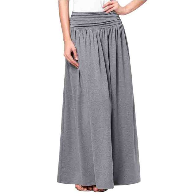 e0287052a Fashion Long Skirts Womens 2016 Latest Autumn Cotton Pleated Skirt Ladies  Elegant A-line Maxi