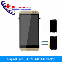 Original Quality LCD Replacement Assembly For HTC One M8 LCD Display With Touch Digitizer With Frame