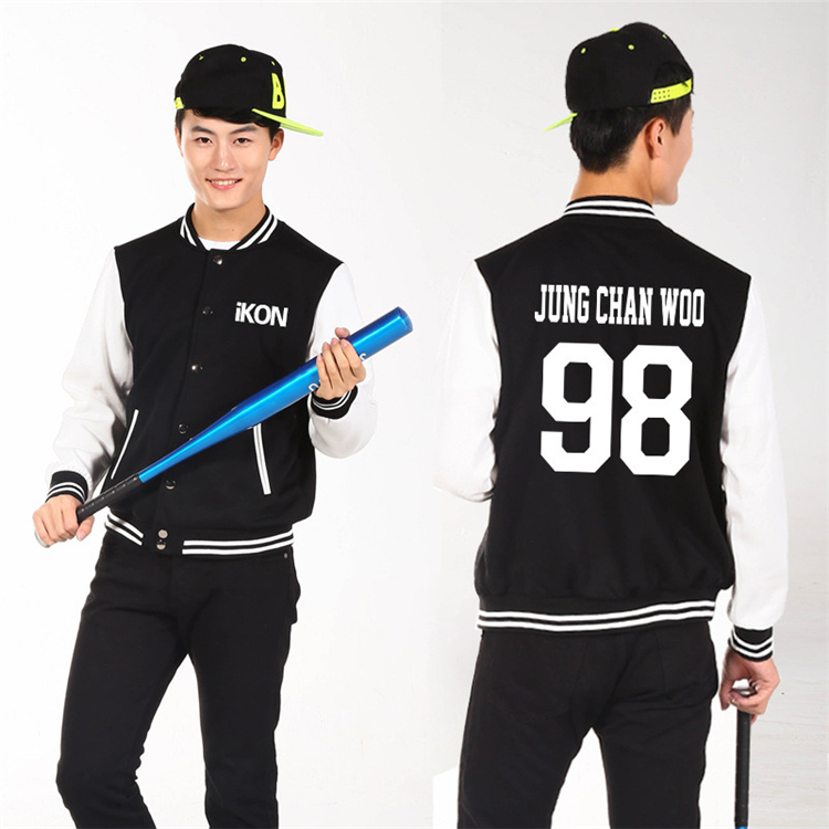 Ikon YG kpop men women casual suit jacket Korean baseball clothing coat YG k-pop IKON fall winter hooded sweatshirts Outerwears