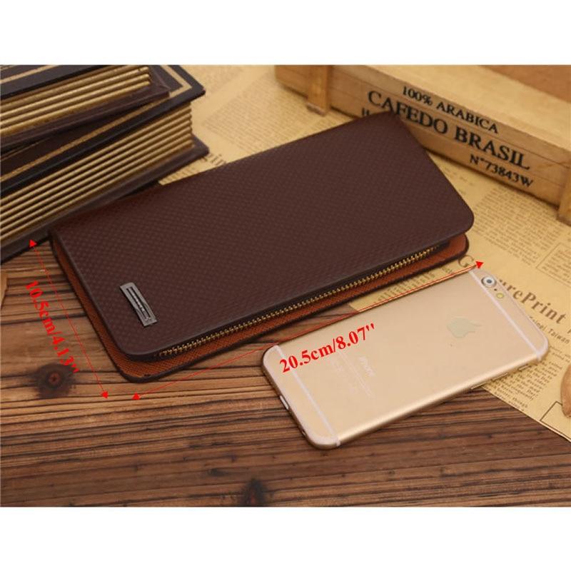 Men's Long Leather Wallet Pockets Purse ID Credit Card Clutch Bifold Wallets