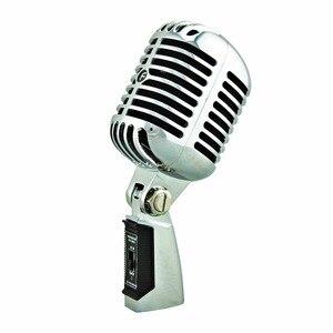 Image 2 - FREEBOSS FB W01 przewodowy dynamiczny mikrofon Retro styl Vintage profesjonalny Karaoke KTV Studio Mic Jazz Stage wokalny mikrofon