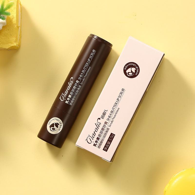 Hot Sale 3.5g Shea Butter Lip Scrub Makeup Nourishing Moisturizing Lipbalm Anti Aging Exfoliating Full Lip Balm Remove Dead Skin