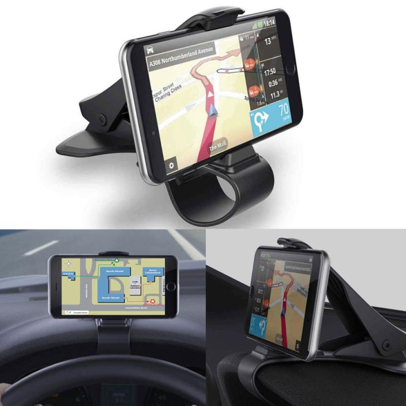 KAKUDER Universal Car Dashboard Cell Phone GPS Mount Holder Stand HUD Design Cradle new arrival smart cell phone holder mount head up display car hud phone gps navigation wireless charger stand for iphone 8 plus