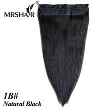 """Mrshair 1B # зажим для волос 1 шт. 18 """"22"""" бразильские человеческие волосы прямые клип парики Cabelo humano tic tac волос"""