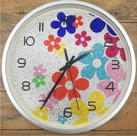 5d Diy Round Diamond Painting Clock Hobby Diamond Embroidery For Kids Painting Rhinestones