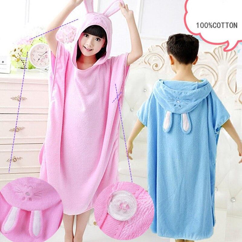 Cute Animal Towel Child Bathrobe Cotton Children Face Towels Bathroom Havlu Handdoeken Serviette Beach Towel Kids Robe QQC294