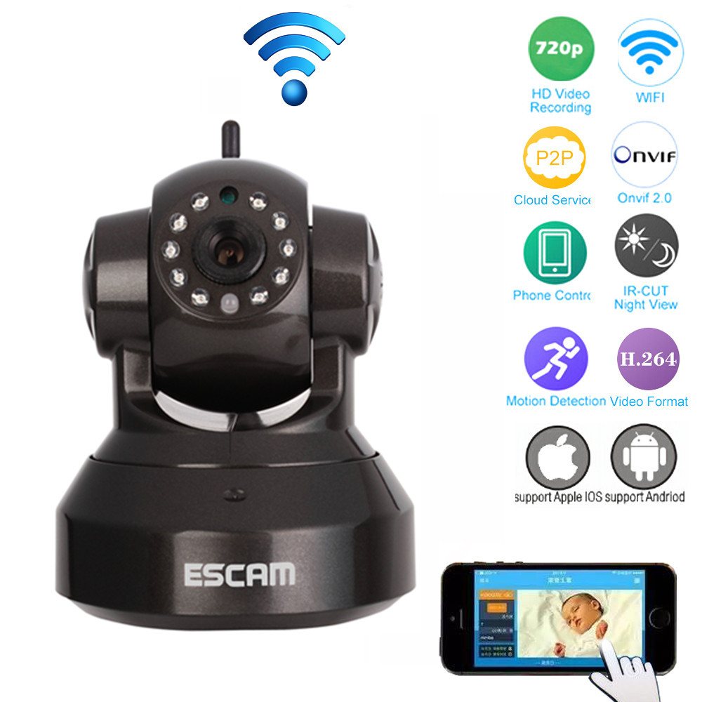 Wireless IP Camera Wifi Onvif Two Way Audio Pan/Tilt IR Night Vision Home Surveillance Video Security Camera CCTV Network IP Cam escam hd 720p wireless ip camera wifi pan tilt two way audio p2p ir cut night vision onvif cloud home security camera sd card