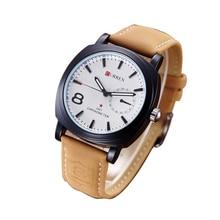 Автоматическая Кварцевые водонепроницаемые наручные часы Моды для Мужчин кожа аналоговый бизнес Часы людей верхнего качества известный большой циферблат часы старинные