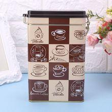 Металлическая квадратная коробка для конфет, жестяная герметичная коробка для хранения конфет, монет, кофе, чая, чехол, держатель, свадебный подарок