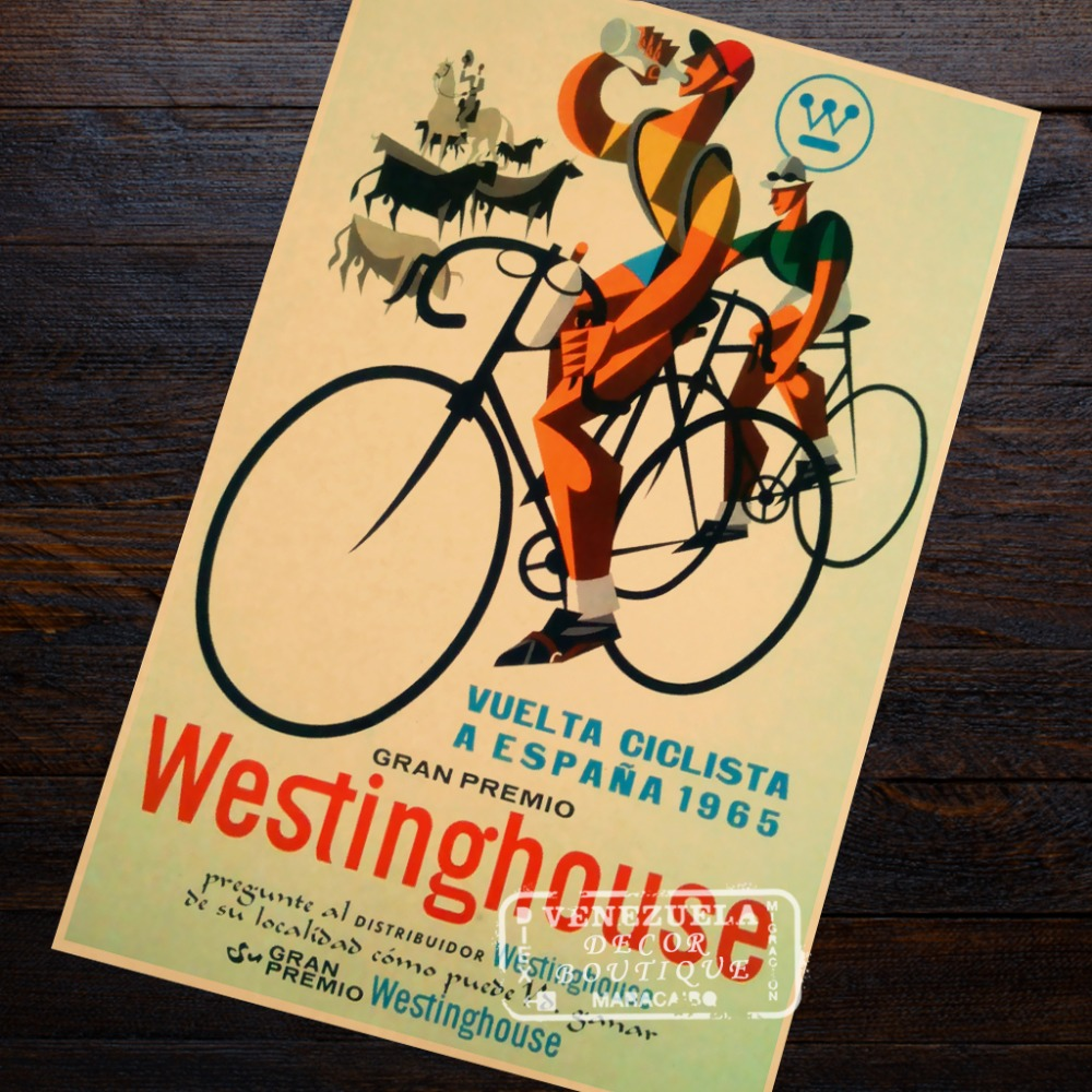 Famous Rider Bicycle Exercise Sport Classic Retro Vintage Kraft ...