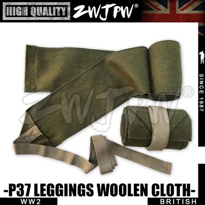 WW2 UK ARMY EQUIPMENT P37 Woolen Leggings High quality REPLICA ARMY GREEN ZWJP(China)