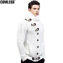 2017 Mens Winter High-collar Cardigan Sweater Men Keep Warm Thick Coat Sweaters Men's Fashion Button Design Brand Clothing M-4XL