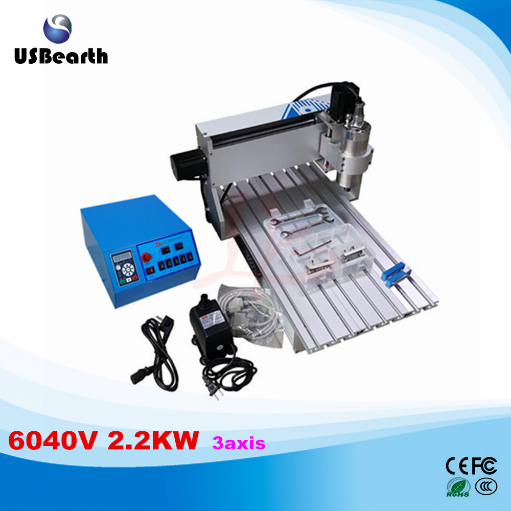 Russia tax free water Cooling CNC Router 6040 2.2kw spindle 4060 cnc engraver