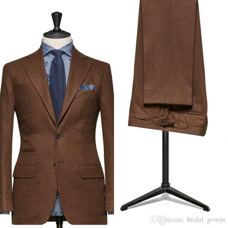 New Men Suits for Wedding Light Brown Slim Groom Tuxedos the Best ...