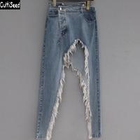 Cultiseed женские джинсовые юбки женские европейские сексуальные асимметричные рваные с дырками джинсовые юбки женские вечерние юбки